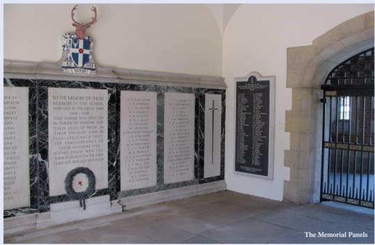 memorial arch plaques