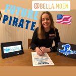 Bella signs US university tennis scholarship contract