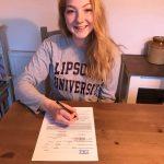 Eleanor signs US university tennis scholarship contract