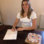 Phoebe signs US university tennis scholarship contract