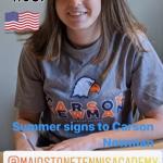 Summer signs US university tennis scholarship contract