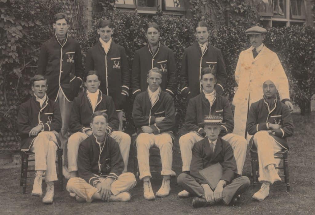 hardit singh malik in the college cricket team